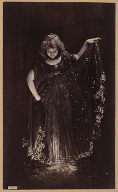 Loie Fuller in Celestial Gown for 'La Nuit' (1896). Albumen print by Benjamin Joseph Falk (1853 - 1925). Image and text courtesy MFA Boston.