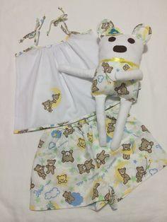 Preço Promocional para 1 peça tamanho 2    Pijama Infantil 100% Algodão.  Naninha para bebês e crianças  Produzido sob encomenda dos tamanhos 2 a 12.