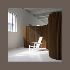 Is it possible to use corrugated cardboard on a roll as a room divider?