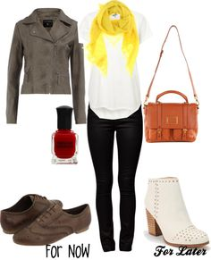 """""""Yellow Scarf"""" by mlc04536 on Polyvore"""