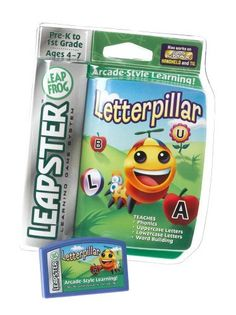 Leapster Arcade: Letterpillar by LeapFrog. $11.95. From the Manufacturer                This hungry Letterpillar loves to eat letters! Watch him grow as he munches his way through a lively arcade game that reinforces important early reading and spelling skills! What it Teaches: * Phonics * Uppercase letters * Lowercase letters * Word Building                                    Product Description                Letterpillar teaches phonics, uppercase and lowercase letters, and...