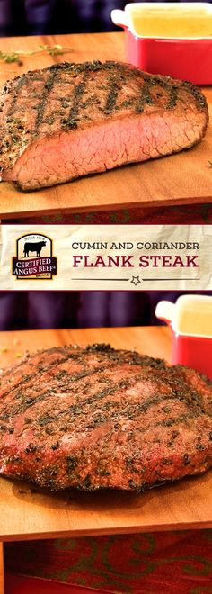 This incredibly flavorful Cumin and Coriander Rubbed Flank Steak is made in just THREE simple steps and with only FIVE ingredients! Certified Angus Beef ®️ brand flank steak marinated in a cumin and coriander rub cooks perfectly on the grill for a delicious easy dinner recipe. Eat it for dinner with your favorite sides, or add it to salads or sandwiches! #bestangusbeef #certifiedangusbeef #beefrecipe #steakrecipe #flanksteak #dinnerrecipes