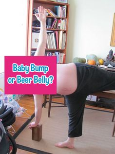 Can you guess correctly if these photos are of a man with a beer belly or a woman's pregnant belly? It's harder than it looks.