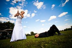 golf wedding picture
