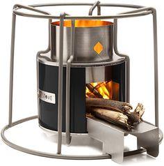 Affirm Global IT117469BBLK Wood Burning EZY Stove, Black