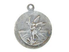 Vintage Saint Michael - Saint Joseph Catholic Medal - Guardian Angel Religious Charm - Military Saint - Religious Charms - X58 by LuxMeaChristus on Etsy
