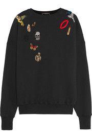 Alexander McQueenAppliquéd cotton-jersey sweatshirt