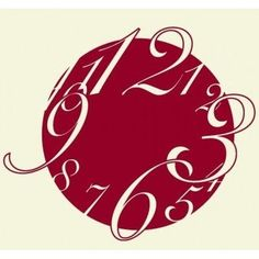 Style and Apply Big Wall Clock Wall Decal Color: Dark Red