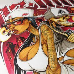 #paco #scetch #hamburg #lossanchez Graffiti Girl, Graffiti Drawing, Graffiti Murals, Street Art Graffiti, Mural Art, Tattoo Graffiti, Graffiti Cartoons, Graffiti Characters, Street Art