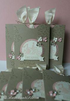Einladungen zur Hochzeit - Stampin up - Auf den ersten Blick - BasteltanteDoreen