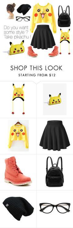 """Pikachu"" by l-kli ❤ liked on Polyvore featuring Nintendo, WithChic, Timberland, STELLA McCARTNEY and EyeBuyDirect.com"