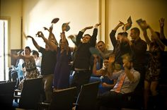 Do the wave before the ceremony to break the tension