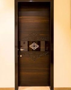 10 Modern Glass Door Designs For Your Home Here are 10 gorgeous modern glass door designs to inspire you. Hope you find one that suits your taste. Flush Door Design, Home Door Design, Pooja Room Door Design, Door Gate Design, Bedroom Door Design, Door Design Interior, Interior Doors, Interior Ideas, Wooden Front Door Design