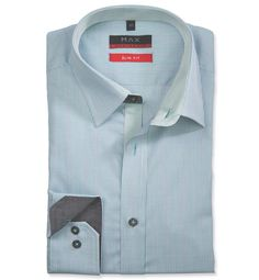 Modern Fit polopriliehavá košeľa Zelená vzorovaná 100% bavlna Popelín (plátno) Leto, Ecommerce Platforms, All In One, Product Launch, Slim, Shirt Dress, Fitness, Mens Tops, Shirts