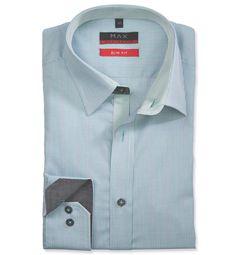 Modern Fit polopriliehavá košeľa Zelená vzorovaná 100% bavlna Popelín (plátno)