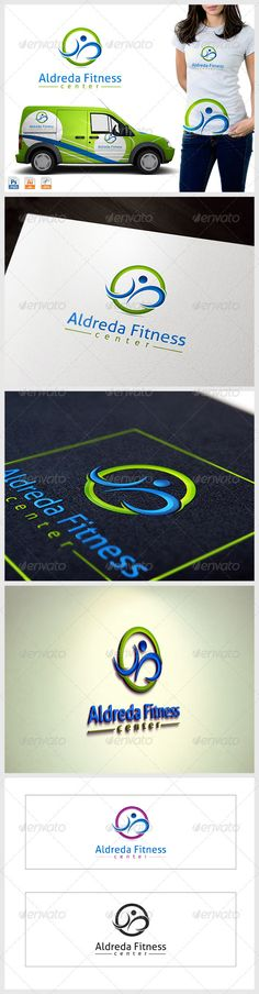 Fitness Center logo — Photoshop PSD #cure #physical • Available here → https://graphicriver.net/item/fitness-center-logo/3762444?ref=pxcr