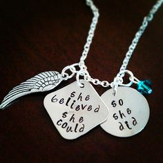 Hand Stamped She Believed She Could So She by HippieSwankBoutique, $35.00