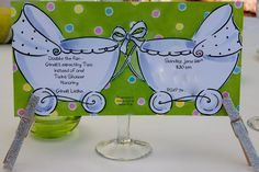 Invitation for Baby Shower for Twins!