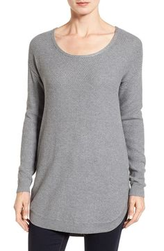 Free shipping and returns on Caslon® Texture Knit Tunic at Nordstrom.com. An extra-long silhouette with a curved hem makes this beautifully knit tunic perfect for layering.
