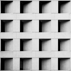 Monochrome block patterns in architecture with graphic repetition