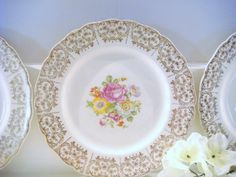 vintage dessert plate wall hangings wall by NiftyandThriftyFinds, $21.00