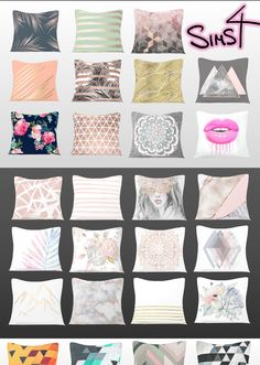 THE SIMS 4 ~ Custom content for you! Pillows #sims #sims4 #customcontent #cc #sims4cc #pillows #cushion #clutter #maxismatch #home #decor #decoration #stripes #nadileinscc #furniture #buymode