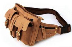 Utility Belt Leather Belt Bag Hip in Brown by Heavenbag on Etsy, $79.00
