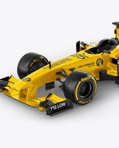 MC Formula 1 Mockup - Left Half Side View