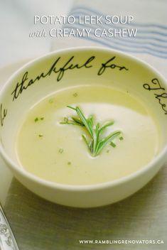 Potato Leek Soup with Silk Creamy Cashew