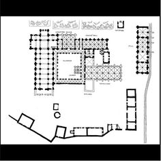 Plan of Abbey of Notre-Dame, Fontenay. 1139-1147.