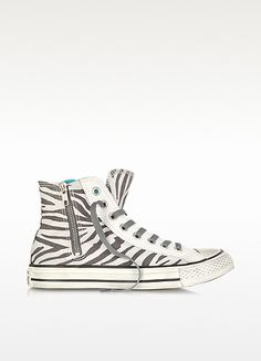 Converse Limited Edition All Star High-top Animal Printed Canvas Zip Sneaker-polyvore