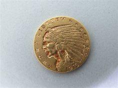 1913 $2.5 Dollar Indian Head US Gold Coin. Available @ hamptonauction.com for the February 9, 2014 auction!
