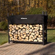 Outdoor log holder