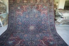 10'x12'11'' Persian Mushkabat  Antique Large Carpet  by RugToGo
