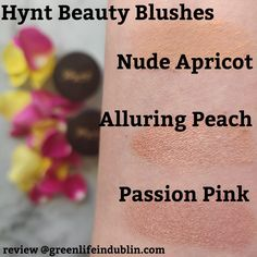 Interested in #naturalandorganicbeautyproducts? I'll give you a #Hynt :) Or a whole #HyntBeautyreview and brand spotlight for that matter! For more #naturalandorganicproducts reviews see #GreenLifeInDublin blog or social media with the same name :) #HyntBeautyswatch #HyntBeautyblush #HyntBeautyBlushswatch #HyntBeautyPassionPink #HyntBeautyAlluringPeach #HyntBeautyNudeApricot