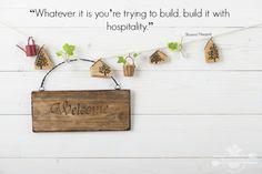 Do it with hospitality, By Crystal Stine