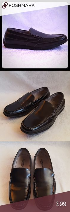 Like New! Nunn Bush Black Leather Loafer Nunn Bush Dual Comfort Memory Foam black slip on loafers. Manmade upper with leather linings. Rubber sole.   Like new! Excellent used condition. Smoke free and pet free home.   Check out my other listings - 100's of 👠shoes👠, 👢boots👢 and 👜bags👜. Bundle 2 or more and save money!💲💰💲 Nunn Bush Shoes Loafers & Slip-Ons