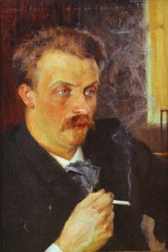 PaintingDb view of Juhani Ahon muotokuva by Edelfelt, Albert. Vincent Van Gogh, Scandinavian Paintings, Helene Schjerfbeck, Rose, Illustration, Painters, Selfies, Men, Cosmopolitan
