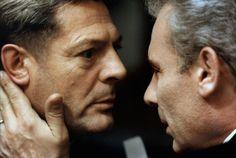 """Marcello Mastroianni e Gian Maria VolontŽè in una scena del film di Elio Petri """"Todo Modo""""; del 1976"""