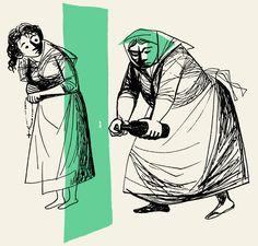 O diabo e a sogra, Contos Tradicionais Portugueses, 1958 | Maria Keil
