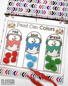 Paint Can Colors: August Preschool Binder - Planning Playtime