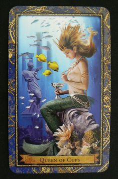 Queen of cups, tarot deck.