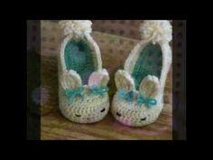 Zapatos para niños y bebe tejido en crochet imagenes