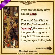 Catholic Theology, Old English Words, Catholic Answers, Lenten Season, Faith, Seasons, God, Catholic Lent, Dios