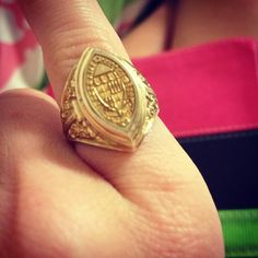 Sweet Briar Class Ring. my class had the purple stone.