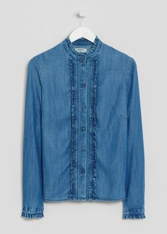 89f815b47a5 SHOP A W 16  Catalan s version of the soft ruffle denim shirt. Matalan