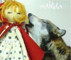 Cappuccetto e il lupo - art doll