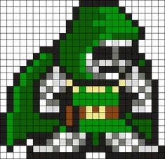 Dr Doom Perler Bead Pattern / Bead Sprite