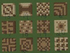 Cool minecraft floor patters! Could really use this for some buildings in my worlds...                                                                                                                                                     More Amazing Minecraft, How To Play Minecraft, Minecraft Ideas For Building, Minecraft Stuff, Minecraft Pictures, Minecraft Plans, Minecraft Pixel Art, Minecraft Tutorial, Minecraft Banners