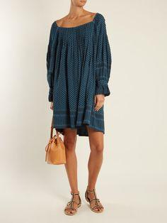 Square-neck scarf-jacquard cotton dress   Cecilie Copenhagen